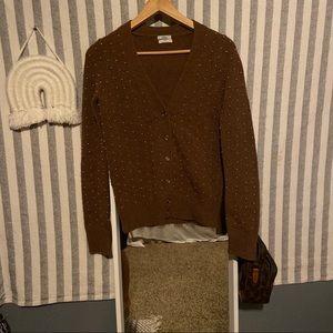 madewell | wallace studded merino wool cardigan